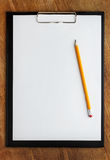 Clipboard with pencil Stock Photos