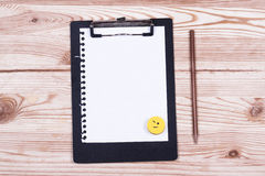 Clipboard with pencil Royalty Free Stock Photo