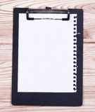 Clipboard with pencil Stock Photography