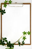 Clipboard and Plant leaf. Royalty Free Stock Images