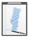 Clipboard Portugal map Royalty Free Stock Photography