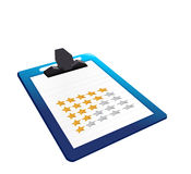 Clipboard rating illustration design Stock Image