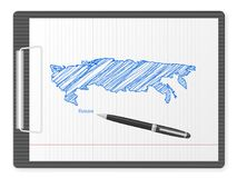 Clipboard Russia map Stock Images