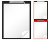 Clipboard and sheet. Clipboard with blank sheet on a white background. Vector illustration Royalty Free Stock Photos