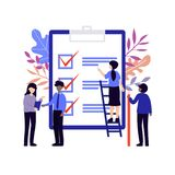 Clipboard small people business colorful stock illustration