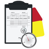 Clipboard with Soccer Referee Data Set Royalty Free Stock Image