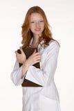 clipboard som kramar den medicinska professionelln Royaltyfri Foto