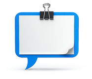 Clipboard - speech bubble. Speech bubble on the clipboard - 3D concept Stock Photos