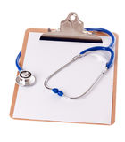 Clipboard and Stethoscope Royalty Free Stock Image