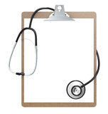 Clipboard and Stethoscope Stock Image
