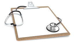 Clipboard and Stethoscope Stock Photo