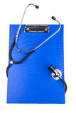 Clipboard with Stethoscope Stock Image