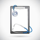 Clipboard with Stethoscope Royalty Free Stock Photography