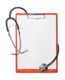 Clipboard and stethoscope Royalty Free Stock Photos