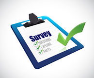 Clipboard survey illustration design Stock Photo
