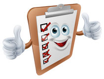 Clipboard survey mascot Stock Photography