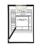 Clipboard with template web page Stock Photo