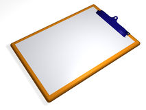 Clipboard - textbox - 3D Royalty Free Stock Photos