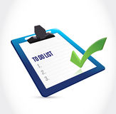 Clipboard to do list illustration design Royalty Free Stock Photography