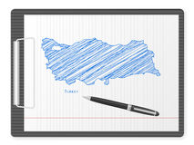 Clipboard Turkey map Stock Images