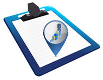 Clipboard with up graph Royalty Free Stock Photo