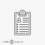 Clipboard vector icon Stock Images