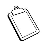 Clipboard. A vector illustration of a clipboard holding a sheet of paper Royalty Free Stock Images