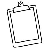 Clipboard. A vector illustration of a clipboard holding a sheet of paper Royalty Free Stock Photography