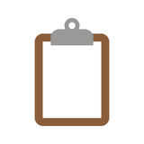 Clipboard. A vector illustration of a clipboard holding a sheet of paper Royalty Free Stock Photos