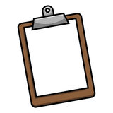 Clipboard. A vector illustration of a clipboard holding a sheet of paper Stock Photos