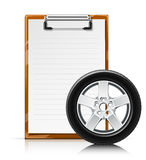 Clipboard with wheel Royalty Free Stock Photos