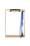 Clipboard and whistle Royalty Free Stock Image