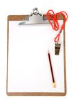 Clipboard and Whistle. Sport concept stock photo