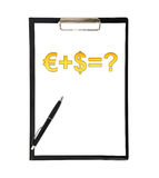 Clipboard whit business formula Royalty Free Stock Image