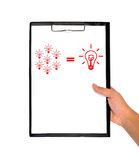 Clipboard whit business formula Royalty Free Stock Photography