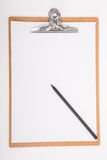 Clipboard and A4 white paper Stock Photos