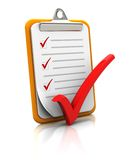 Clipboard With Checklist Royalty Free Stock Photo