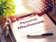 Free Clipboard With Personal Effectiveness. 3D Render. Royalty Free Stock Images - 79040099