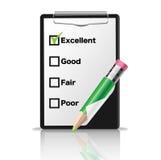 ClipBoardclipboard con un lápiz verde Imagen de archivo libre de regalías