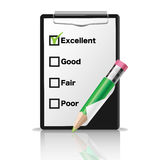 ClipBoardclipboard mit einem grünen Bleistift Lizenzfreies Stockbild