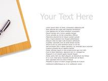 Clipboarden och skrivar Arkivbild