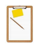 clipboardpapper härskade skolan Arkivbild