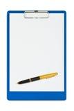 clipboardpenna Fotografering för Bildbyråer
