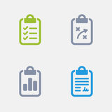 Clipboards - Granite Icons Royalty Free Stock Image
