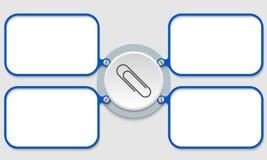 Clipe de papel Imagem de Stock