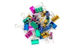 Clipe de papel do metal das cores Foto de Stock Royalty Free