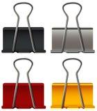 Clipe de papel em quatro cores Fotos de Stock Royalty Free