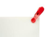 Clipe de papel vermelho Imagem de Stock