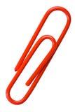 Clipe de papel vermelho Fotografia de Stock Royalty Free