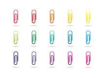 Clipes de papel coloridos do espectro do arco-íris Imagem de Stock